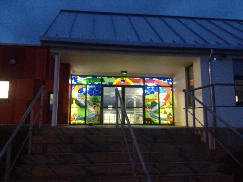 Watergrasshill National School, Cork-Watergrass Stained Glass